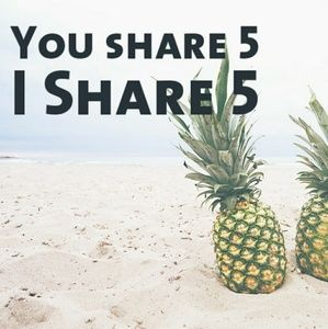 You Share 5 Items I Share 5 Items